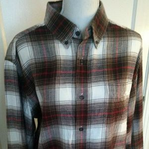 Croft & Barrow Plaid Flannel Button Down Shirt